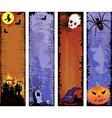 Set of backgrounds halloween vector image