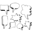 set speech bubbles vector image