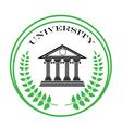 university symbol vector image