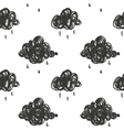 with cartoon handdrawn cloud vector image