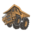 Huge aggressive construction truck vector image