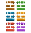 Cartoon wood buttons for game or web design vector image