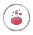 Love potion icon in cartoon style isolated on vector image
