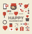 448retro valentine iconVS vector image