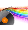 music background with vinyl desk vector image vector image