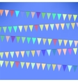 Set of Colorful Flags vector image