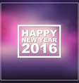 Design New Year banner on a blurred background vector image