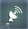 Satellite antenna icon On the blue-green abstract vector image