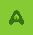 Letter A eco leaves logo icon design template vector image