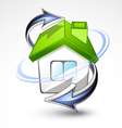 house with green roof vector image vector image