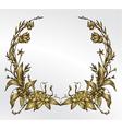 vintage gold floral frame vector image