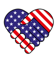 American hand shake vector image vector image
