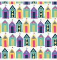 beach cabin bright colorful geometric vector image
