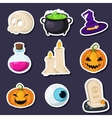 Collection of halloween holiday objects vector image