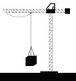 crane construction black vector image