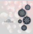 elegant hanging lamps for christmas festival vector image