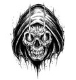 grim reaper drawing line work vector image