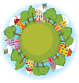 happy neighborhood vector image