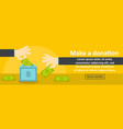 make a donation banner horizontal concept vector image
