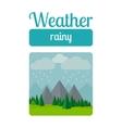 Rainy weather vector image