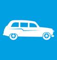 retro car icon white vector image