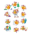 Rooster Birds Set Chinese Zodiac Horoscope vector image
