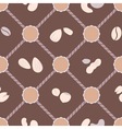 seamless background with beans and nuts vector image