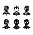 superhero concept set in black simple style vector image