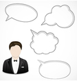 Man and speech bubbles vector image