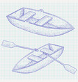 boat hand drawn sketch vector image