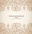 Vintage ornamental invitation card vector image