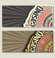 banners for casino vector image