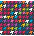 Abstract background with houndstooth print vector image vector image