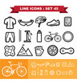 Bicycle Line icons set 45 vector image vector image
