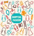 shopping Fashion clothing vector image