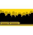 railway transport background vector image