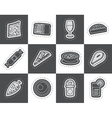 Shop food and drink icons 2 vector image