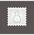Pineapple stamp Outline vector image