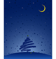 winter holiday dark vector image