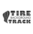 Tire track text background vector image vector image