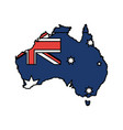 australian map design vector image