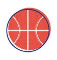 basketball ball to training play game sport vector image