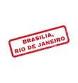 Brasilia Rio De Janeiro Rubber Stamp vector image