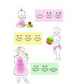 children teething scheme vector image