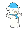 comic cartoon cute polar bear vector image