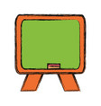isolated blackboard cartoon vector image