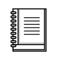 line notebook tool to writing the learned in the vector image