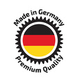 Made in Germany badge vector image