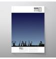 Shipyard harbor skyline night design vector image