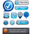 Tick high-detailed modern buttons vector image